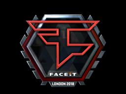 Наклейка | FaZe Clan (металлическая) | Лондон 2018
