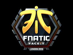 Наклейка | Fnatic (металлическая) | Лондон 2018