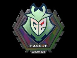 Наклейка | G2 Esports (голографическая) | Лондон 2018