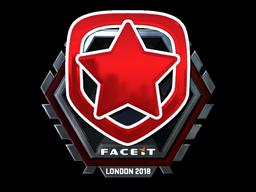 Наклейка | Gambit Esports (металлическая) | Лондон 2018