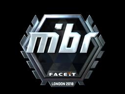 Наклейка | MIBR (металлическая) | Лондон 2018