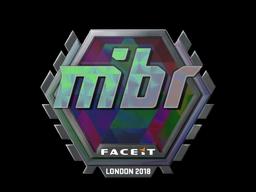 Наклейка | MIBR (голографическая) | Лондон 2018