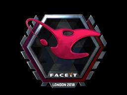 Наклейка | mousesports (металлическая) | Лондон 2018