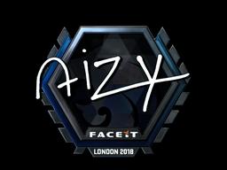 Наклейка | aizy (металлическая) | Лондон 2018