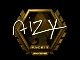 Наклейка | aizy (золотая) | Лондон 2018