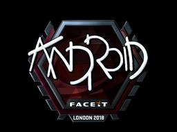 Наклейка   ANDROID (металлическая)   Лондон 2018