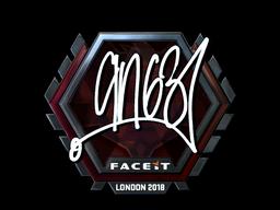 Наклейка   ANGE1 (металлическая)   Лондон 2018