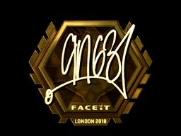 Наклейка   ANGE1 (золотая)   Лондон 2018