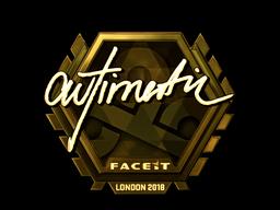 Sticker   autimatic (Gold)   London 2018