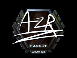 Наклейка   AZR (металлическая)   Лондон 2018