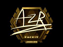 Наклейка   AZR (золотая)   Лондон 2018