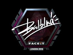 Sticker   balblna (Foil)   London 2018
