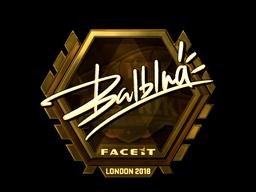 Sticker   balblna (Gold)   London 2018