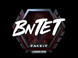 Наклейка   BnTeT (металлическая)   Лондон 2018