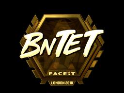 Наклейка   BnTeT (золотая)   Лондон 2018