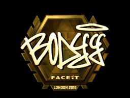Sticker   bodyy (Gold)   London 2018