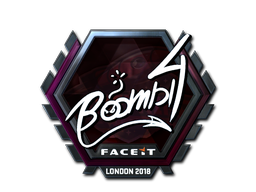 Sticker   Boombl4 (Foil)   London 2018
