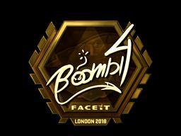 Sticker   Boombl4 (Gold)   London 2018