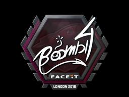 Sticker   Boombl4   London 2018