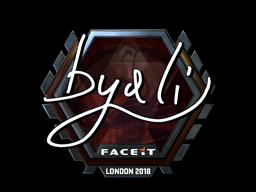 Наклейка | byali (металлическая) | Лондон 2018