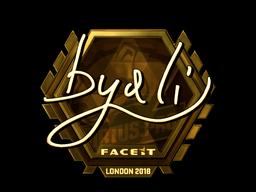 Наклейка | byali (золотая) | Лондон 2018