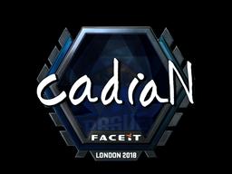 Наклейка   cadiaN (металлическая)   Лондон 2018