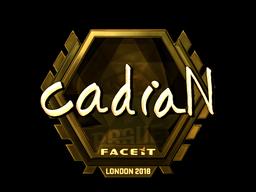 Наклейка   cadiaN (золотая)   Лондон 2018