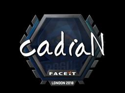 Наклейка   cadiaN   Лондон 2018