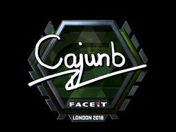 Наклейка   cajunb (металлическая)   Лондон 2018