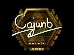 Наклейка   cajunb (золотая)   Лондон 2018