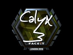 Наклейка | Calyx (металлическая) | Лондон 2018