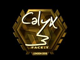 Наклейка | Calyx (золотая) | Лондон 2018
