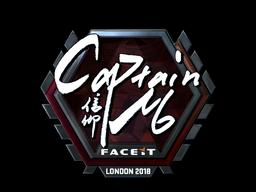 Наклейка   captainMo (металлическая)   Лондон 2018