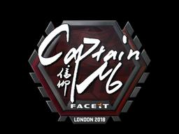 Наклейка   captainMo   Лондон 2018