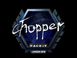 Наклейка | chopper (металлическая) | Лондон 2018