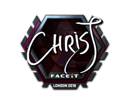 Sticker   chrisJ (Foil)   London 2018