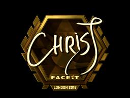 Sticker   chrisJ (Gold)   London 2018