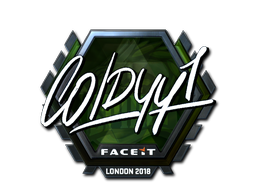 Наклейка   COLDYY1 (металлическая)   Лондон 2018