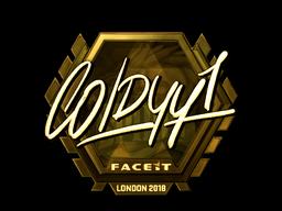 Наклейка   COLDYY1 (золотая)   Лондон 2018