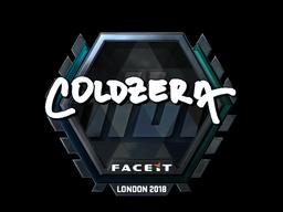 Sticker   coldzera (Foil)   London 2018