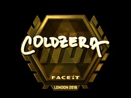 Sticker   coldzera (Gold)   London 2018