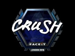 Наклейка | crush (металлическая) | Лондон 2018