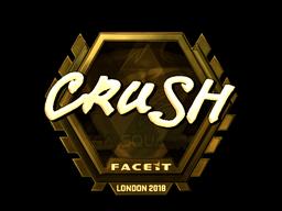 Наклейка | crush (золотая) | Лондон 2018