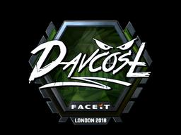 Наклейка   DavCost (металлическая)   Лондон 2018