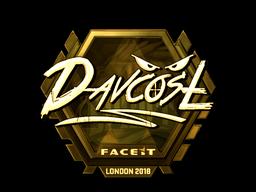 Наклейка   DavCost (золотая)   Лондон 2018