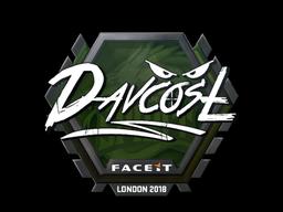 Наклейка   DavCost   Лондон 2018