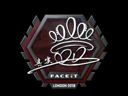 Наклейка   DD   Лондон 2018