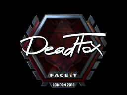 Наклейка   DeadFox (металлическая)   Лондон 2018