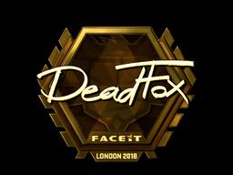 Наклейка   DeadFox (золотая)   Лондон 2018