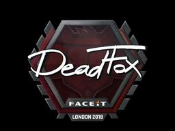 Наклейка   DeadFox   Лондон 2018
